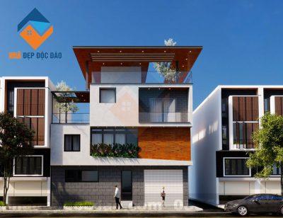 Mẫu thiết kế nhà phố 2 tầng 2 mặt tiền trên diện tích 101.4m2