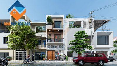 Mẫu thiết kế nhà phố 3 tầng trên diện tích 63m2