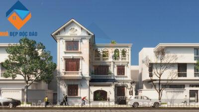 Mẫu thiết kế biệt thự 3 tầng phong cách cổ điển trên diện tích 154m2