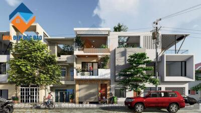 Mẫu thiết kế nhà phố 3 tầng phong cách hiện đại trên diện tích 90m2