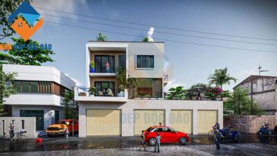 Mẫu thiết kế nhà ở kết hợp kinh doanh 3,5 tầng
