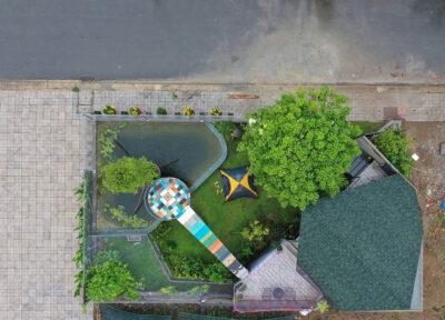 Mẫu thiết kế nhà vườn diện tích 50m2 thông thoáng nhiều cây xanh
