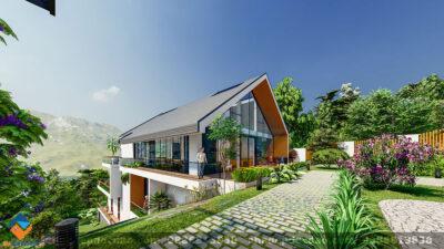 Mẫu thiết kế nhà vườn nghỉ ngơi cuối tuần diện tích 380m2