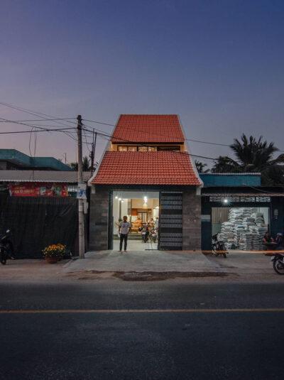 Mẫu thiết kế nhà phố 112m2 mang phong cách thiết kế thuần Việt